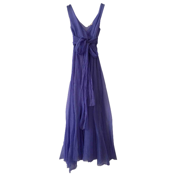 Parosh Purple Silk Dress