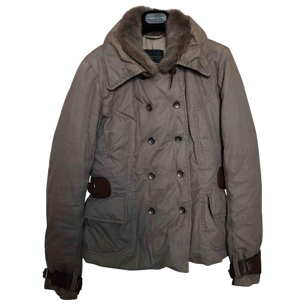 Ermanno Scervino Khaki Cotton Coat