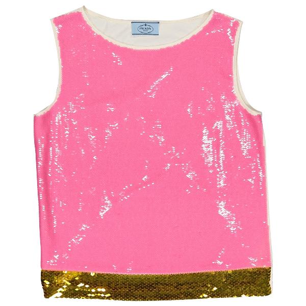 Prada Pink Silk  Top