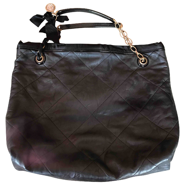 Lanvin Amalia Black Leather Handbag