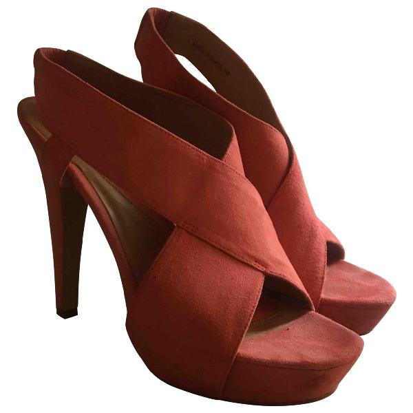 Diane Von Furstenberg Pink Suede Sandals