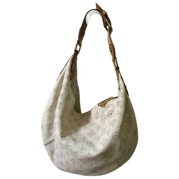 Louis Vuitton Mahina White Leather Handbag