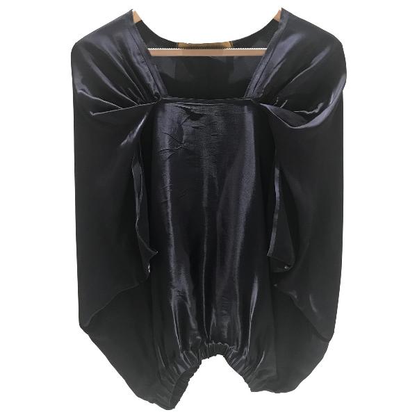Lanvin Navy Silk  Top
