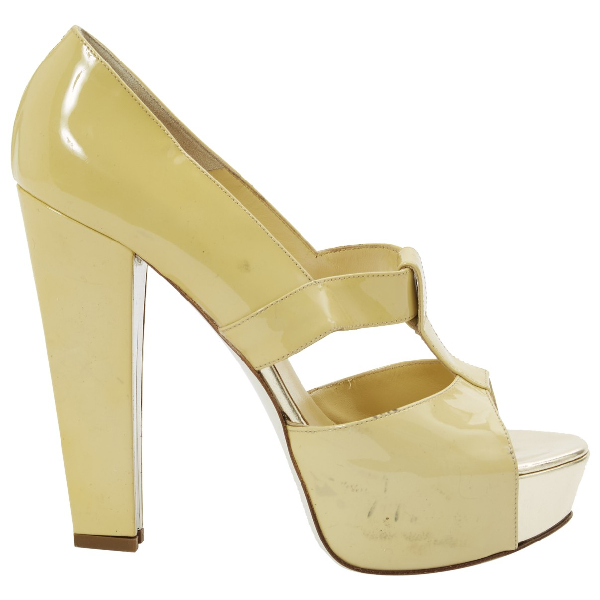 Versace Yellow Patent Leather Heels