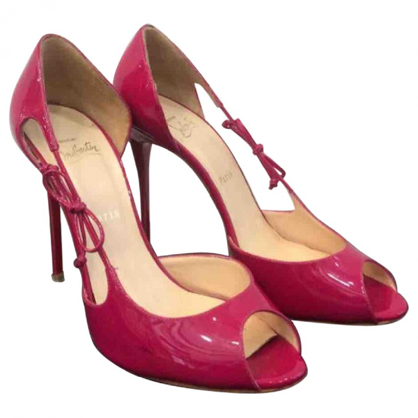 Christian Louboutin Pink Patent Leather Heels