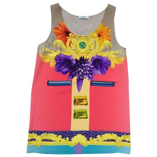 Versace Multicolour Silk  Top