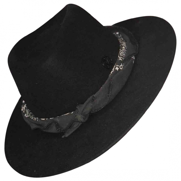 Maison Michel Black Wool Hat