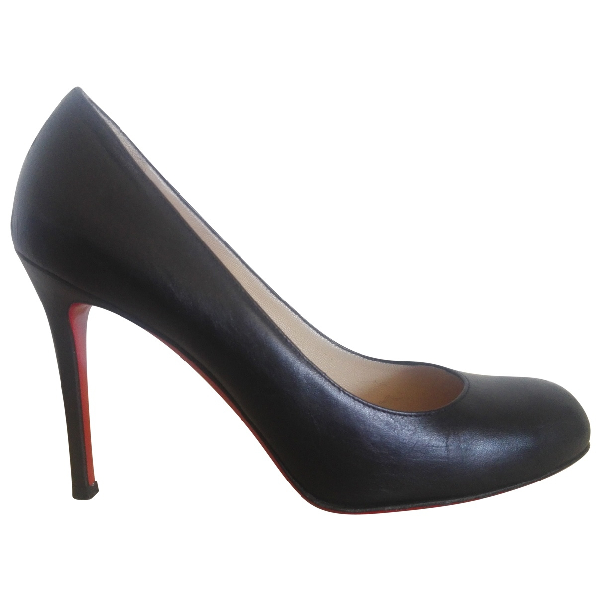 Christian Louboutin Simple Pump Black Leather Heels