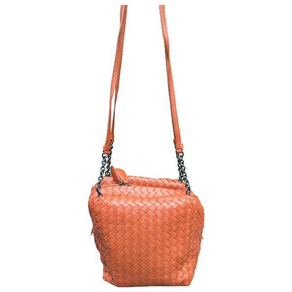 Bottega Veneta Orange Leather Handbag
