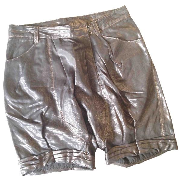 3.1 Phillip Lim Metallic Cotton Shorts