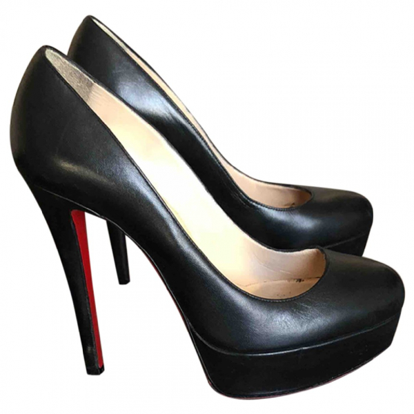 Christian Louboutin Bianca Black Leather Heels