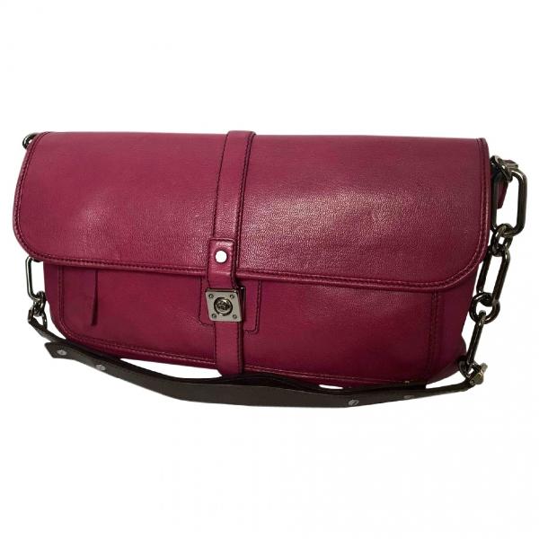Lanvin Burgundy Leather Handbag