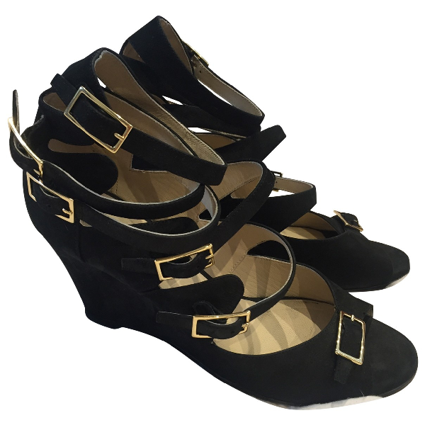 ChloÉ Black Suede Sandals