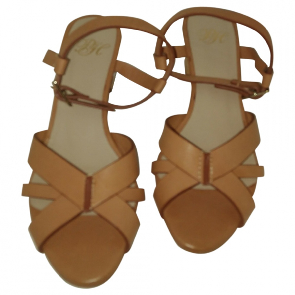 Pedro Del Hierro Camel Leather Sandals