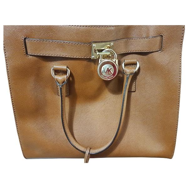 Michael Kors Hamilton Brown Leather Handbag