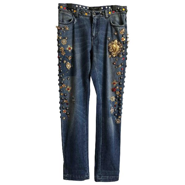 Dolce & Gabbana Blue Cotton Jeans