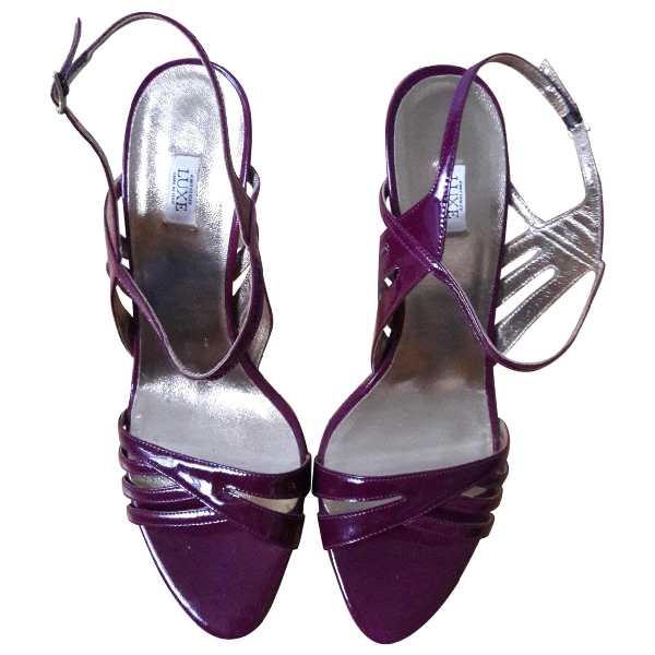 Kurt Geiger Purple Patent Leather Heels