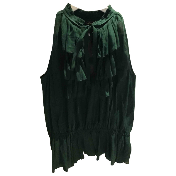 By Malene Birger Green Cotton  Top