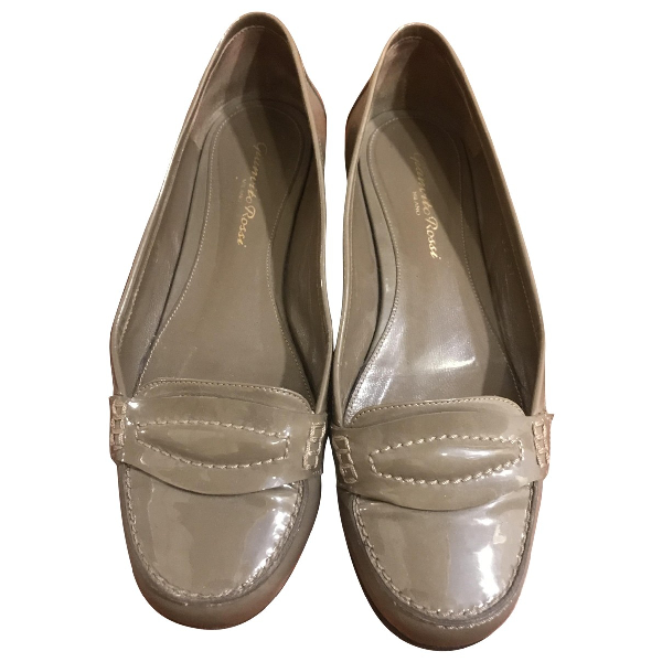 Gianvito Rossi Grey Leather Flats