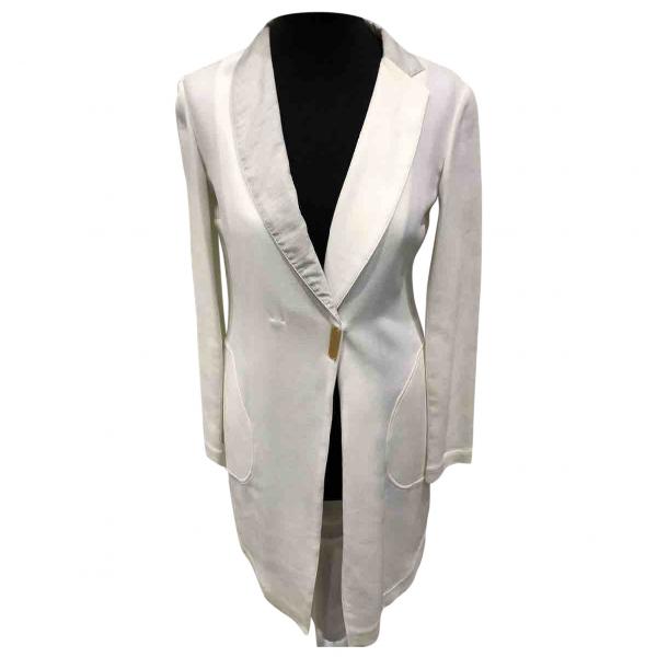Brunello Cucinelli White Cotton Trench Coat