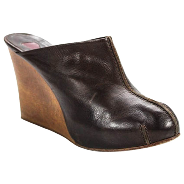 ChloÉ Brown Leather Mules & Clogs