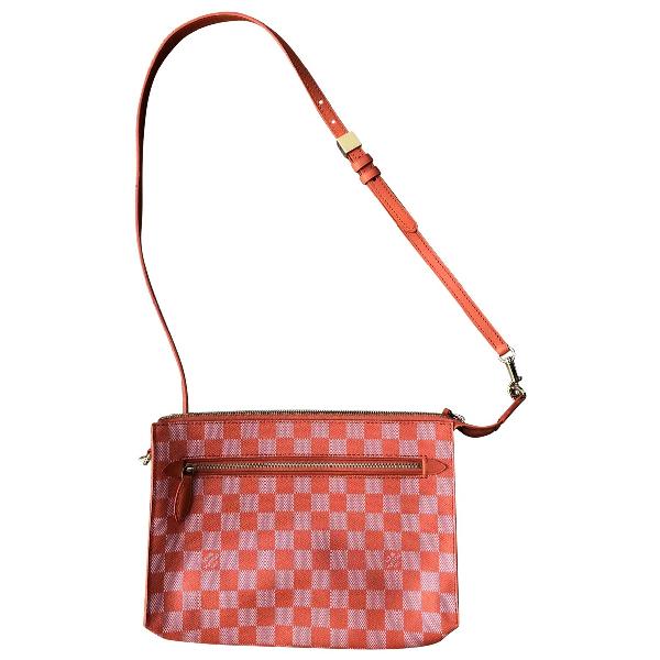Louis Vuitton Orange Cloth Handbag