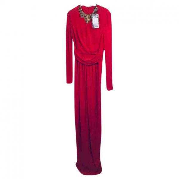 Alexander Mcqueen Red Silk Dress