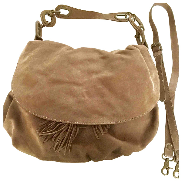 Gerard Darel Pom Bag Brown Leather Handbag