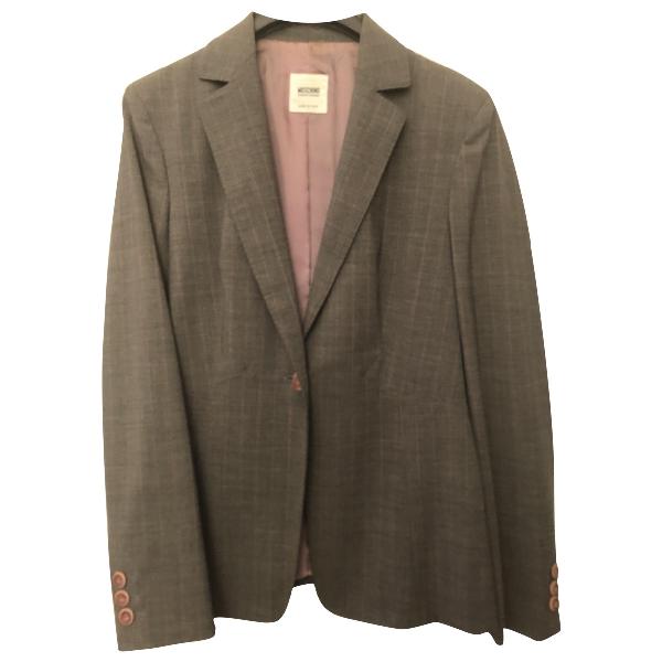 Moschino Cheap And Chic Grey Wool Jacket