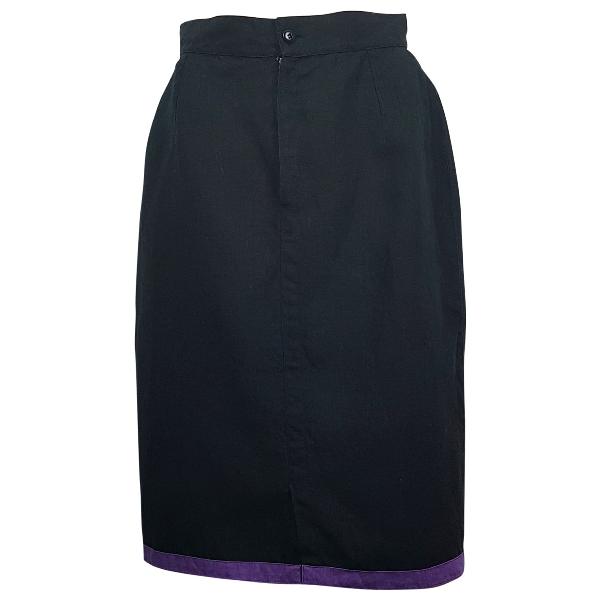 Versace Black Linen Skirt