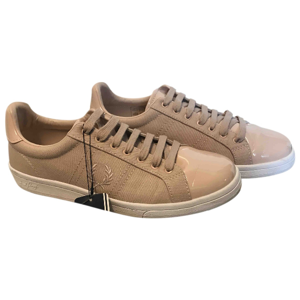 Fred Perry Pink Cloth Trainers