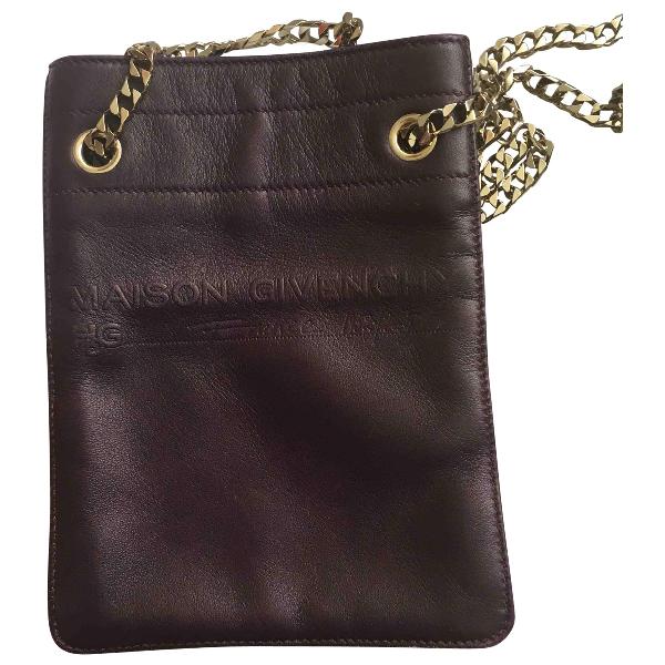 Givenchy Purple Leather Handbag