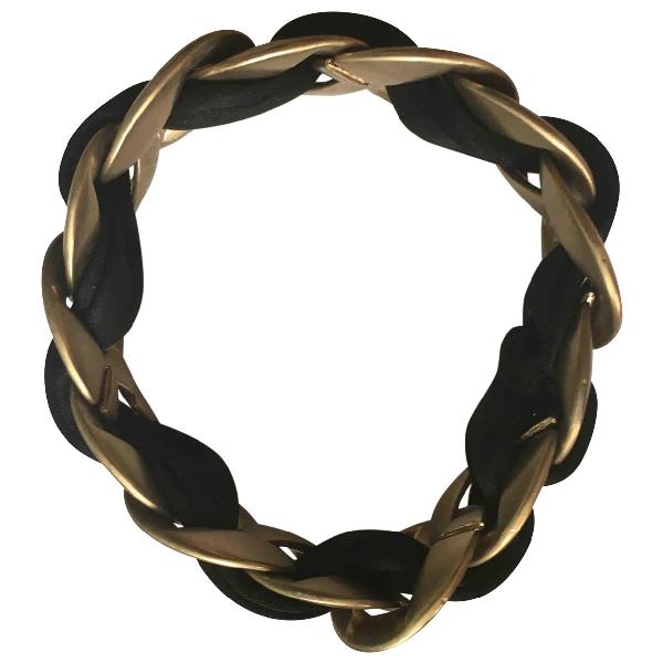 Chanel Black Metal Bracelet