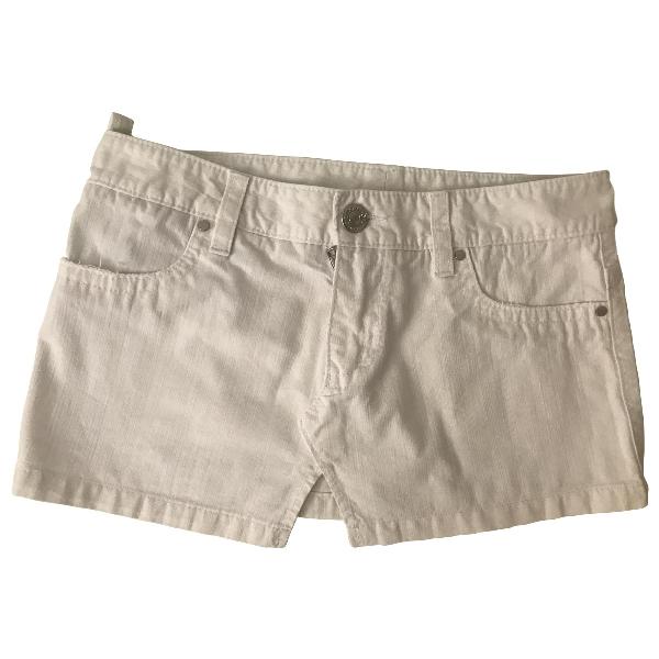 Dsquared2 White Cotton Skirt