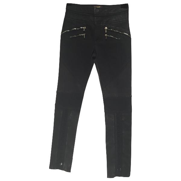 Roberto Cavalli Black Cotton Trousers