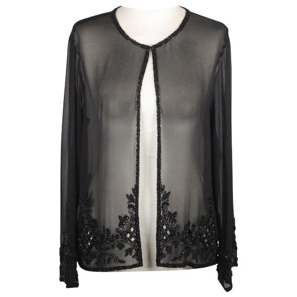 Valentino Black Silk  Top