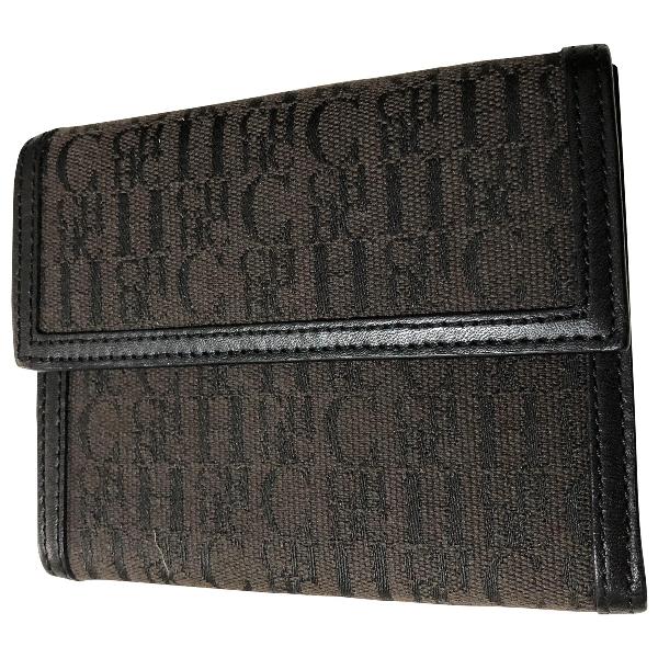 Carolina Herrera Brown Cloth Wallet