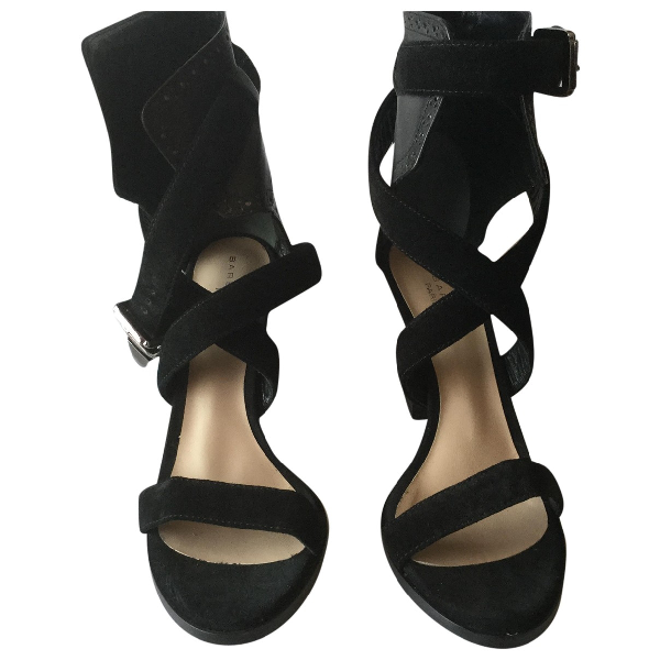 Barbara Bui Black Leather Sandals