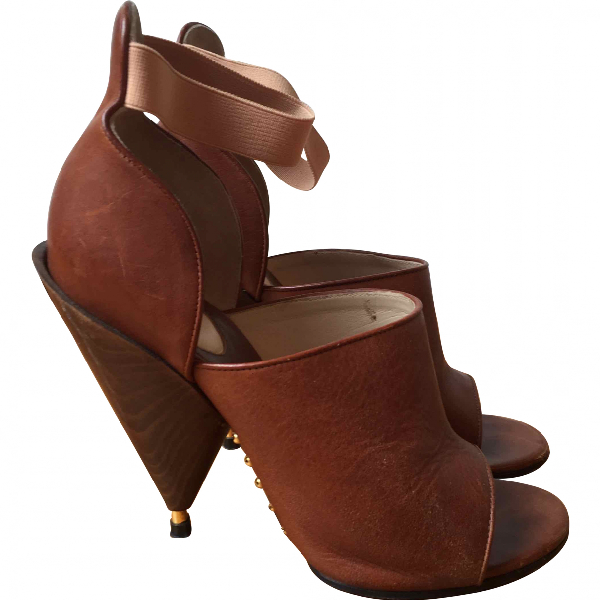 Givenchy Camel Leather Sandals