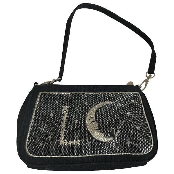 Lulu Guinness Black Cloth Handbag
