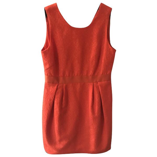 Comptoir Des Cotonniers Orange Cotton Dress
