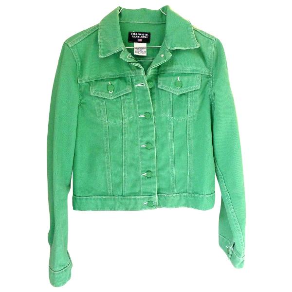 Polo Ralph Lauren Green Denim - Jeans Leather Jacket