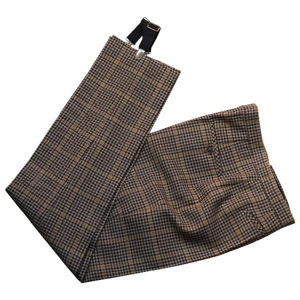 Balenciaga Brown Wool Trousers