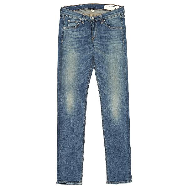 Rag & Bone Blue Cotton - Elasthane Jeans
