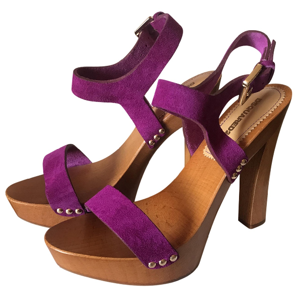 Dsquared2 Pink Suede Sandals