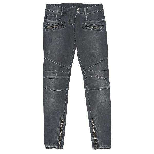 Balmain Black Cotton - Elasthane Jeans