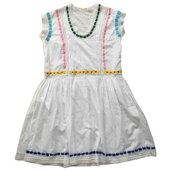 Parosh White Cotton Dress
