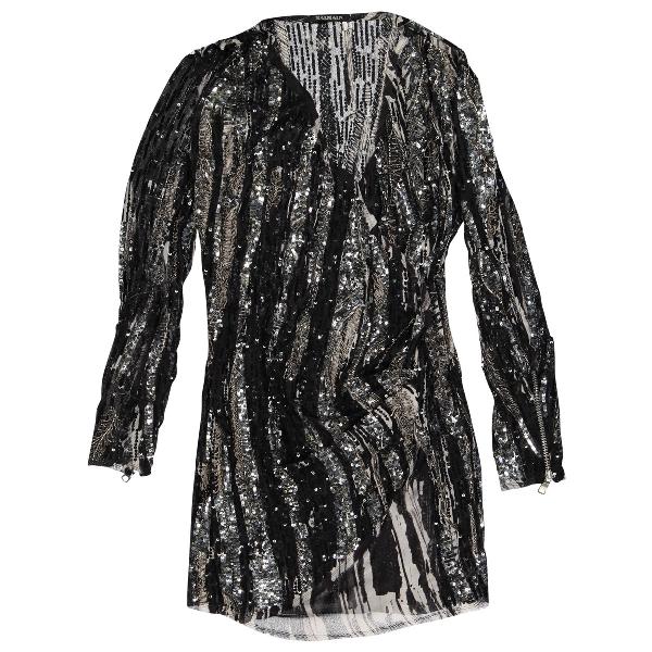Balmain Black Silk Dress