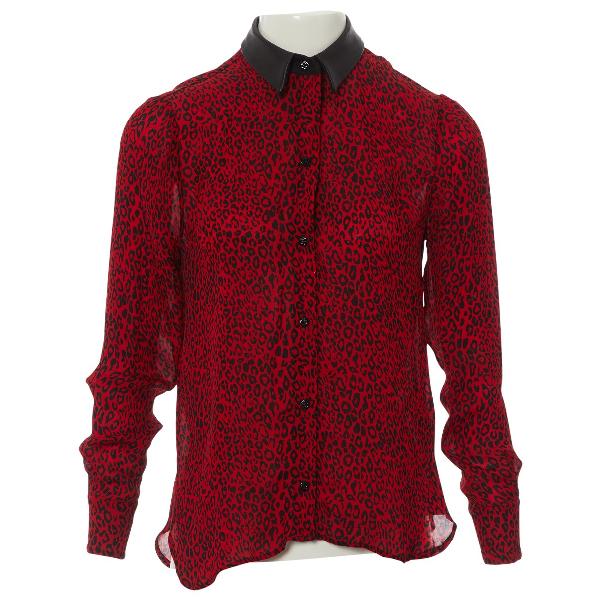 Amiri Red Silk  Top
