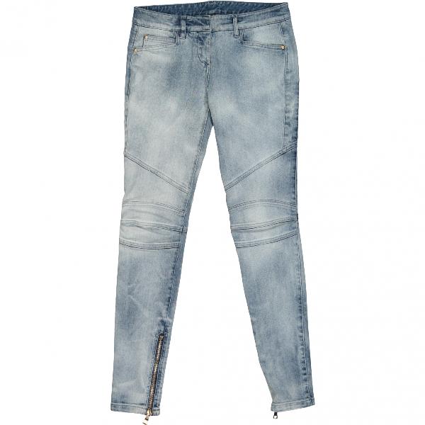 Balmain Blue Cotton - Elasthane Jeans